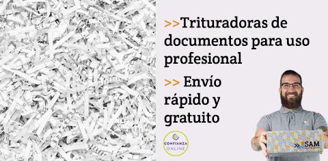 Trituradoras de documentos para uso profesional.